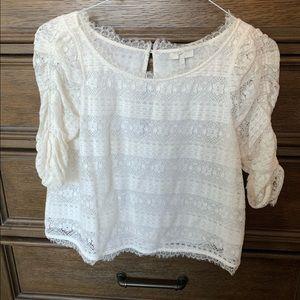 Joie ivory lace shirt size xs